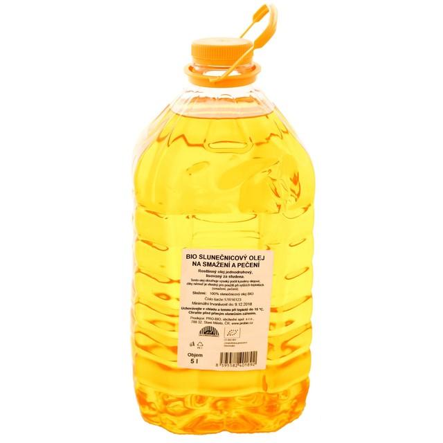PRO-BIO obchod.spol. s r.o. Olej slnečnicový na pečenie a vyprážanie BIO - 1 KS (5 l)