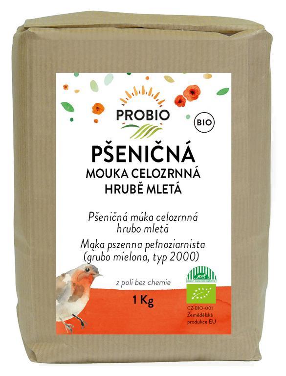 PRO-BIO obchod.spol. s r.o. Múka pšeničná celozrnná hrubo mletá 1 kg BIO PROBIO