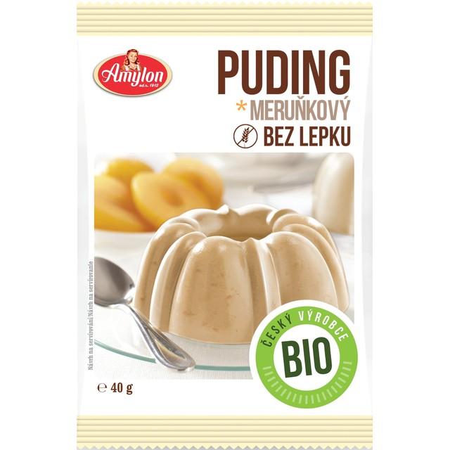 Amylon, a.s. Puding marhuľový BEZLEPKOVÝ Amylon BIO 40 g