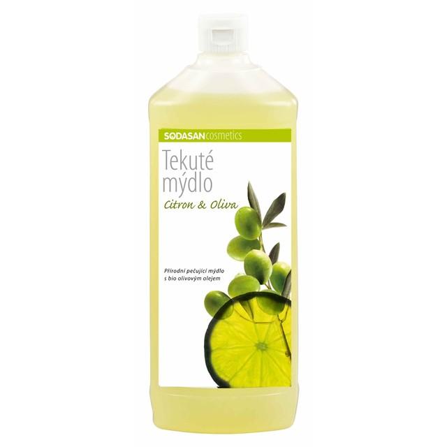 SODASAN Wasch- und Reinigungsmittel GmbH Tekuté BIO mydlo Citron-Oliva na doplň. BIO 1000 ml SODASAN