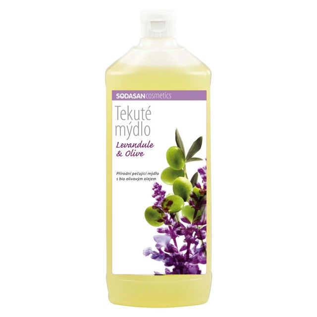 SODASAN Wasch- und Reinigungsmittel GmbH Tekuté BIO mydlo Levan.-Oliva doplň. BIO 1000 ml SODASAN