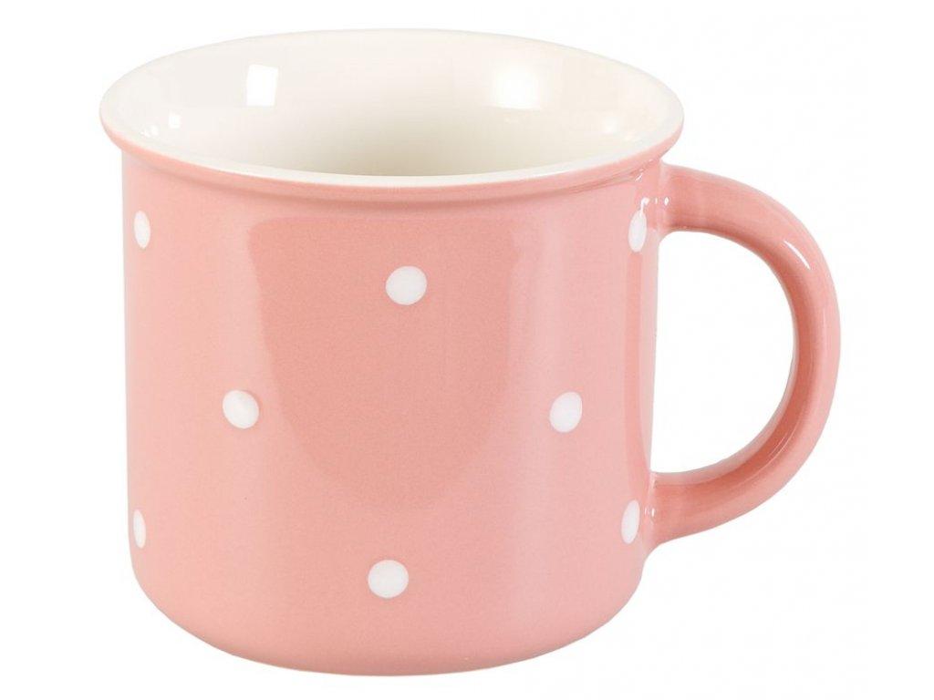 Porcelánový hrnček Vreni 0,33 l rúžový