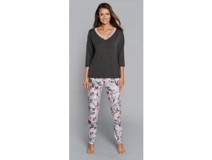 MUSCARI dámské pyžamo s 3 4 rukávem a dlouhými kalhotami