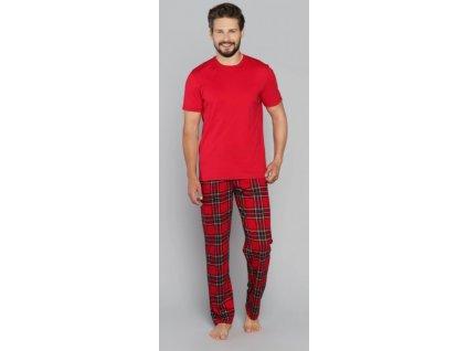 NARWIK pánské pyžamo, krátký rukáv, dlouhé nohavice