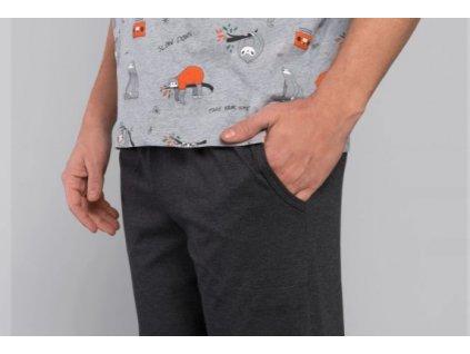 GONZO pánské pyžamo, krátký rukáv, dlouhé kalhoty