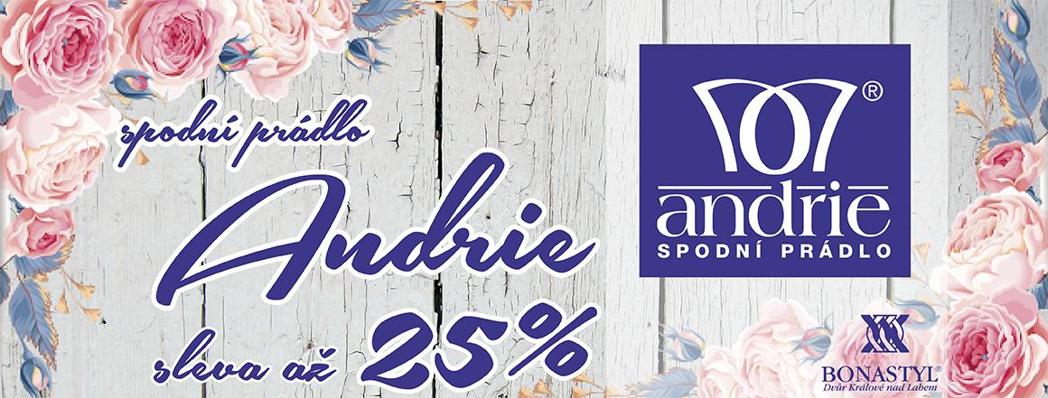 Spodní prádlo ANDRIE se slevou až 25%