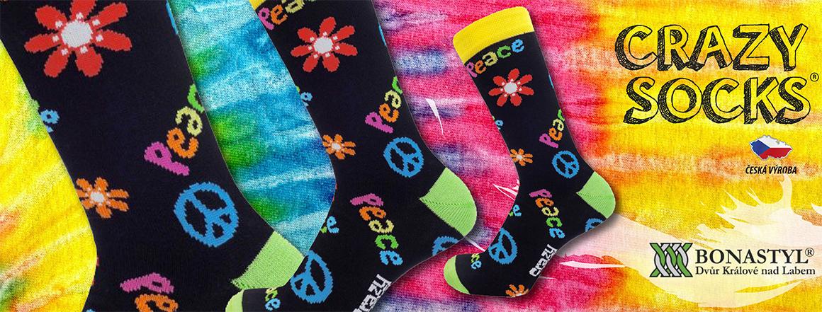 Veselé ponožky PEACE