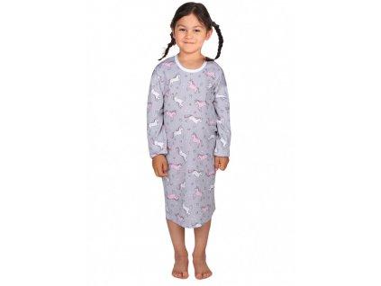 ROZÁLKA 616 SŠV dívčí noční košile dlouhý rukáv