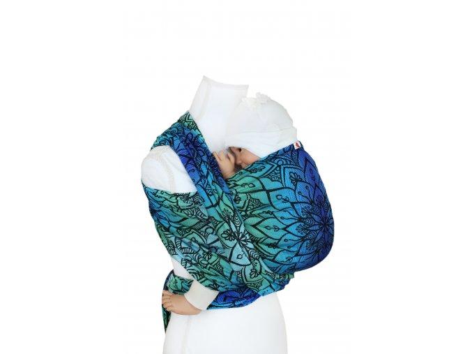 Šátek - Mandala- Polární záře