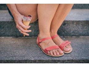 barefoot sandale lenka summer red 1910 size large v 1