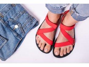 barefoot sandale be lenka flexi red 2075 size large v 1