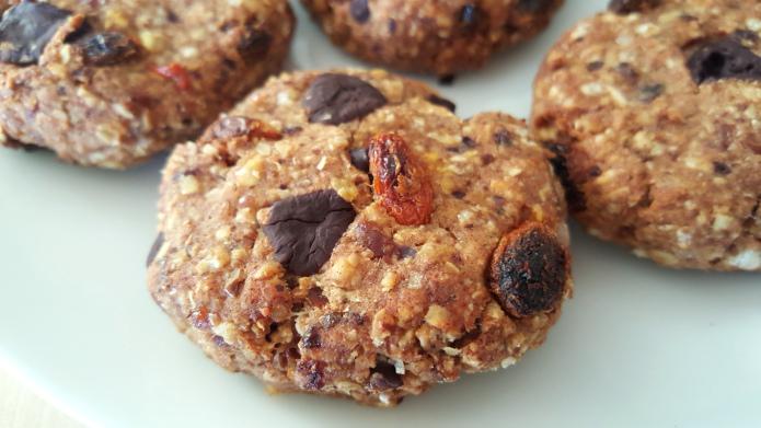Goji sušenky s ovesnými vločkami a baobabem