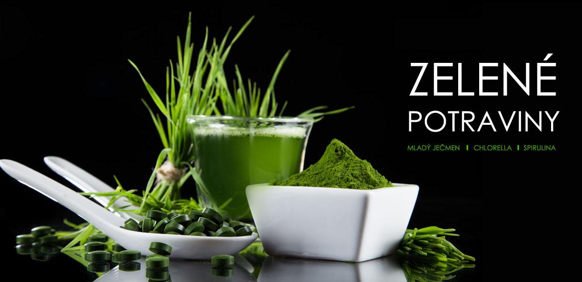 Jarní detox, posílení imunity - Zelené potraviny - mladý ječmen, chlorella, spirulina