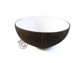 Kokosová miska lakovaná bílá BONEA logo