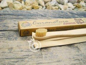Curanatura bambusový Zubní kartáček pro děti extra soft