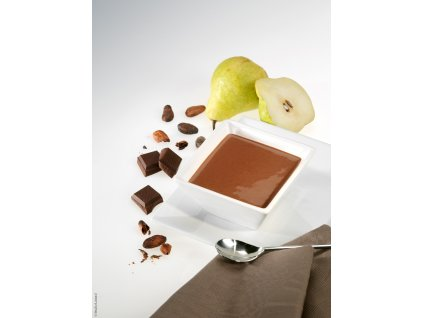Dezert s čokoládovo hruškovou příchutí
