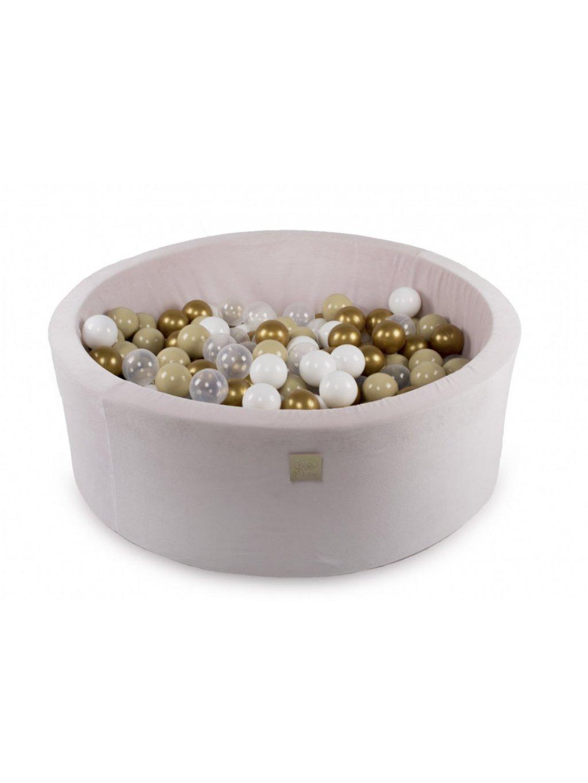 Suchý bazén pre deti okrúhly 90x40 cm + 200 guličiek Prémium ružový 13