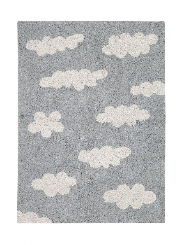 Detský koberec Clouds sivý