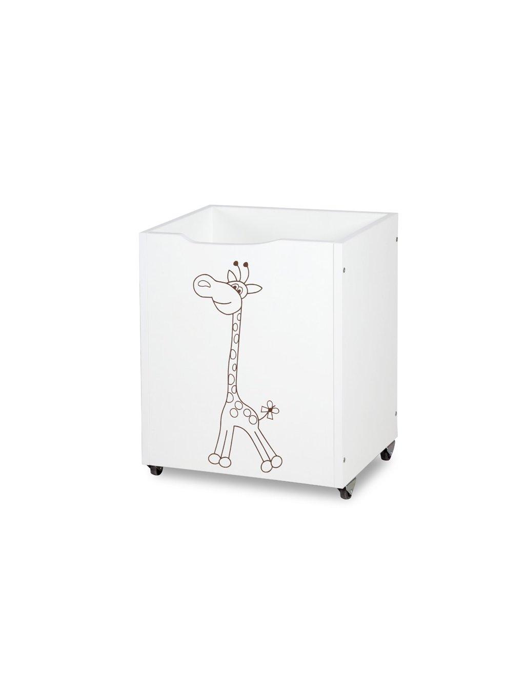 Úložný biely box na kolieskach Žirafka 1