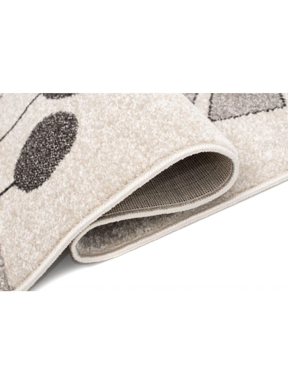 Detský sivý koberec Zebra 120x170 1