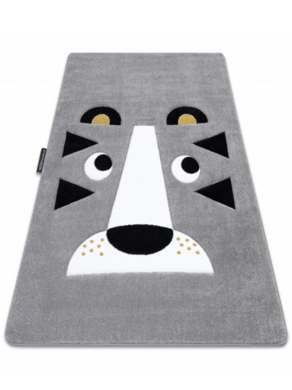 Detský sivý koberec Lion rôzne rozmery 1