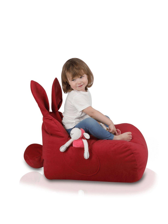 Detský sedací vak Zajačik Detské kresielko zvieratká