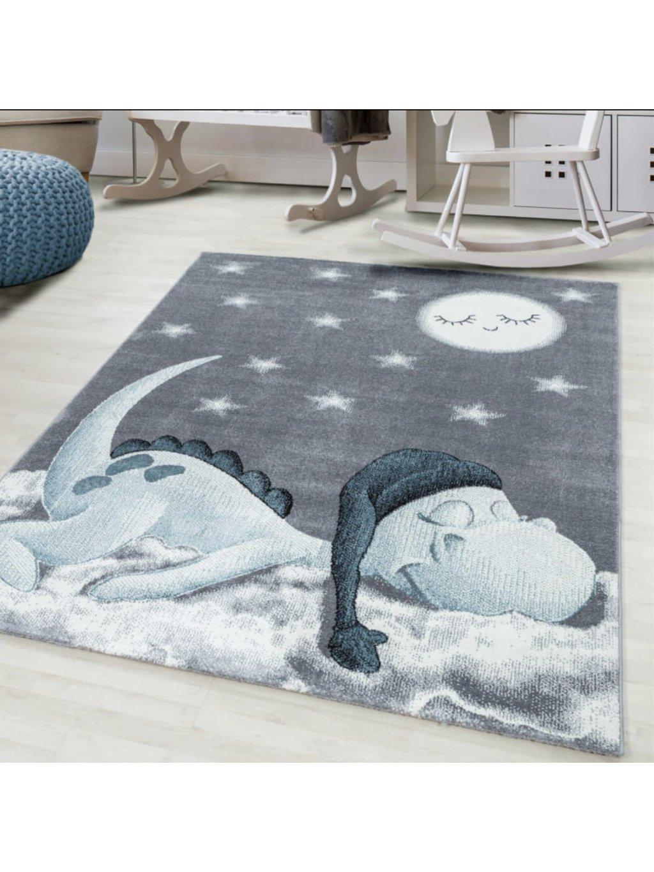 Detský koberec Town sivý rôzne rozmery 1
