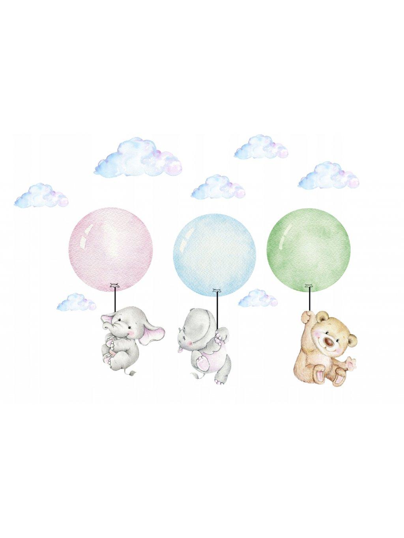Detská nálepka na stenu balóny XXL 170 cm 03