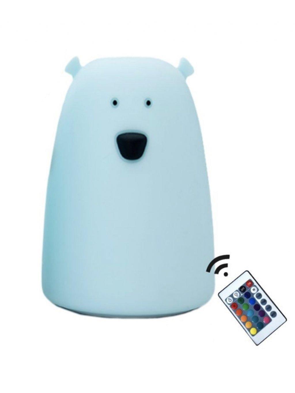 Veľká lampička Modrý Macko s ovládacím piltom 01
