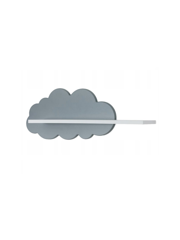 Polička Oblak sivá 2