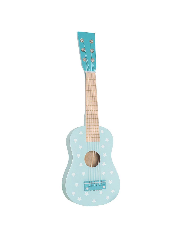Detská drevená gitara modrá