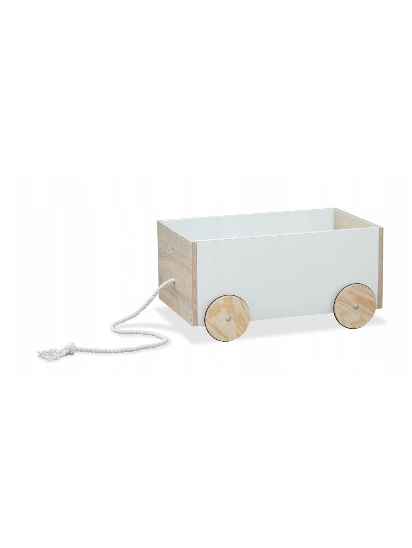 Drevený úložný box na hračky na kolieskach Flexi 01