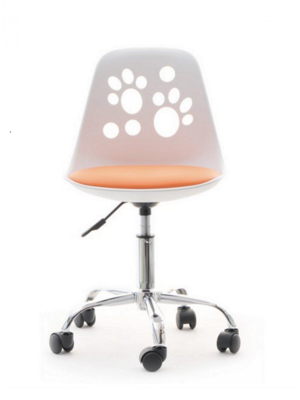 Detská stolička k písaciemu stolu Labky oranžová 02