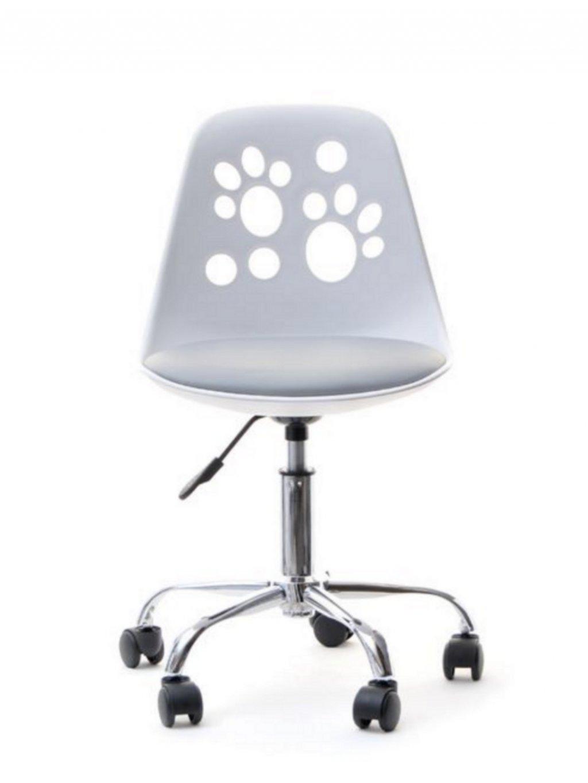 Detská stolička k písaciemu stolu Labky sivá 01
