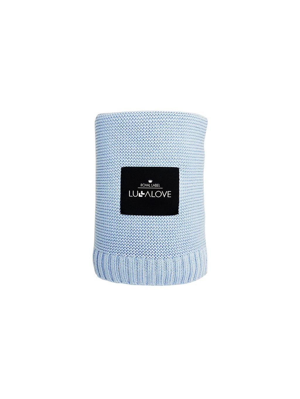 Bambusová deka Lulalove modrá