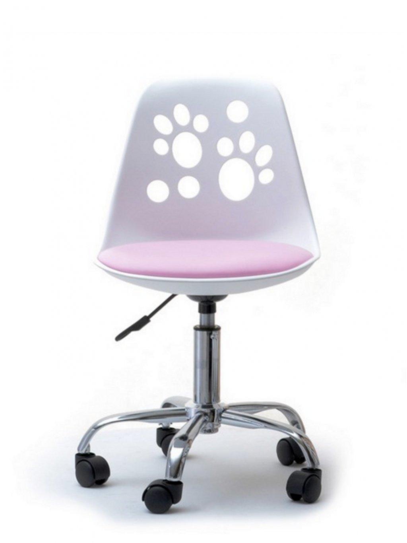 Detská stolička k písaciemu stolu Labky ružová 05