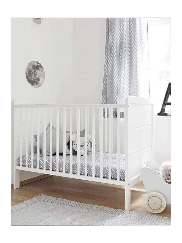 Detská biela postieľka Moderna 120x60 0