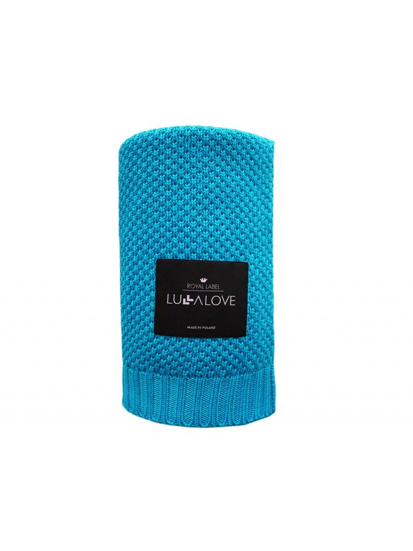 Bambusová deka Lulalove makarónová modrá