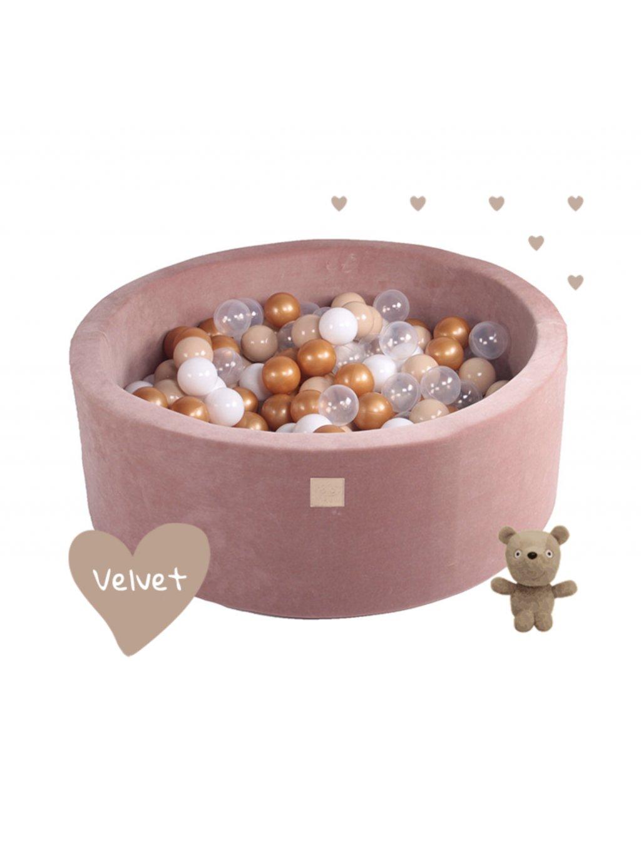 Suchý bazén pre deti okrúhly 90x30/40 cm + 200 guličiek - Prémium Teddy Bear