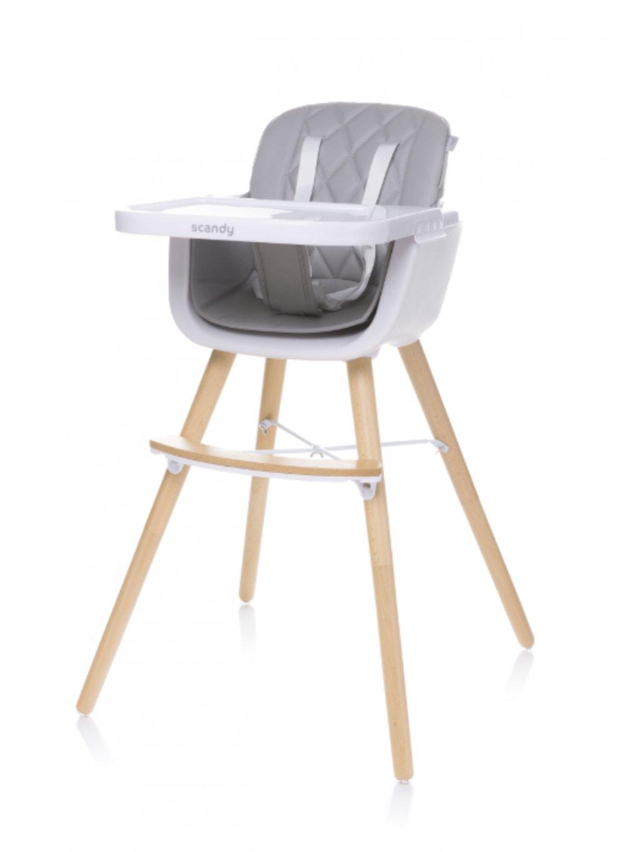 Detská jedálenská stolička Scandy 2v1 slabosivá 04