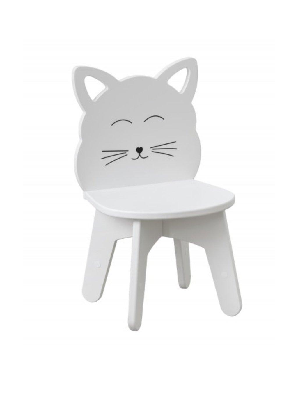 Detská stolička Mačička biela