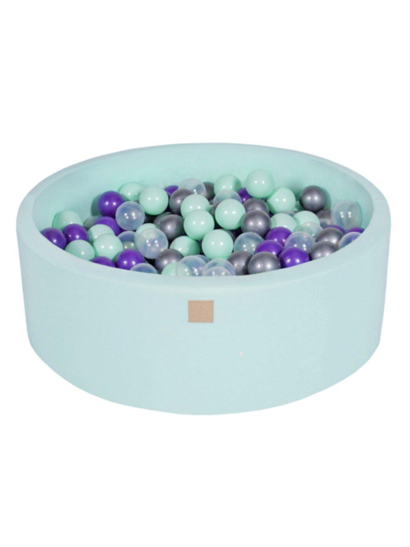 Suchý bazén pre deti 90x30 cm + 200 guličiek mentolový 011