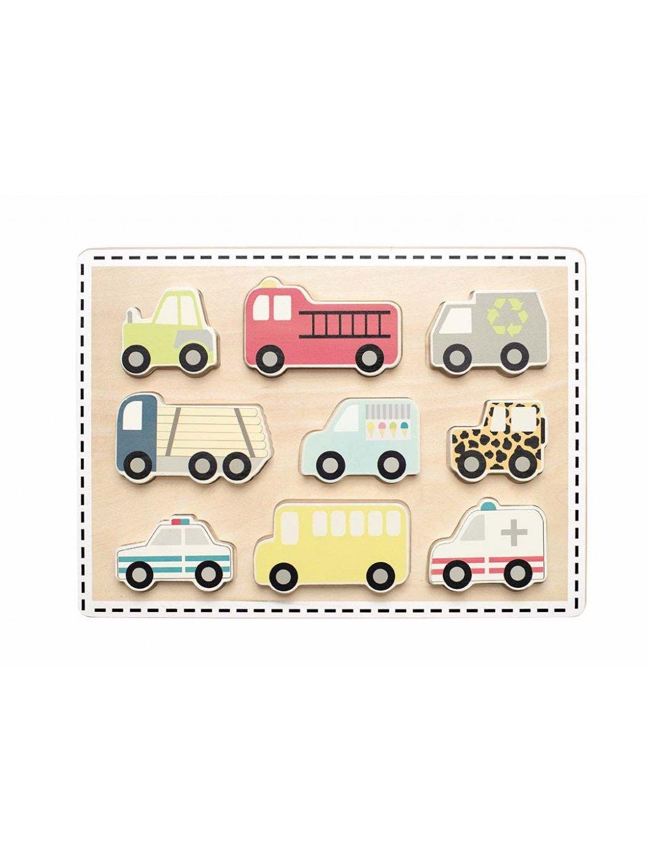 Drevené puzzle Cars 2