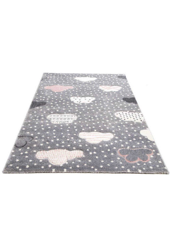 Detský sivý koberec Happy Clouds