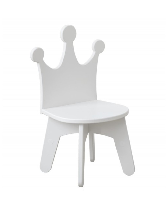 Detská stolička biela Koruna