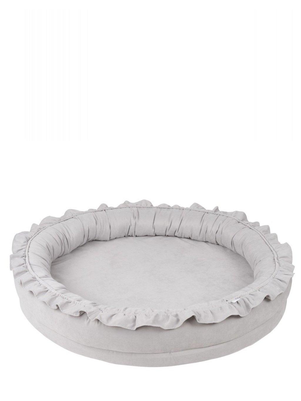 Detské hniezdo okrúhle Cotton&Sweets sivé 01
