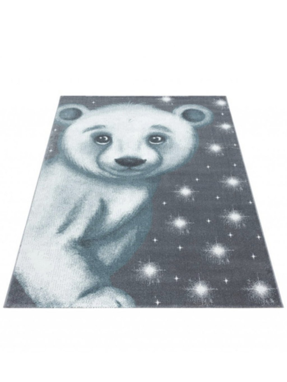 Detský koberec Bambi Macko modrý 1