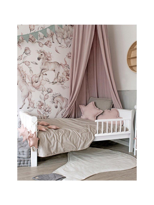 Detská posteľ Nobleo Toddle biela 140x70 + bariérky 00