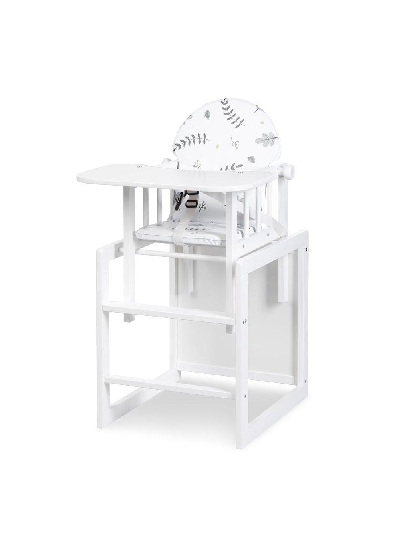 Detská jedálenská stolička Lili biela