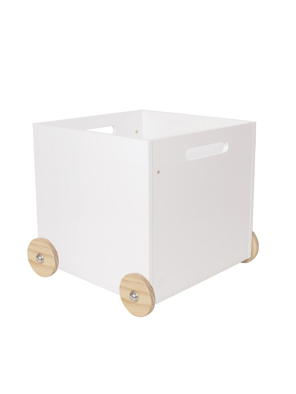 Úložný box na kolieskach z dreva